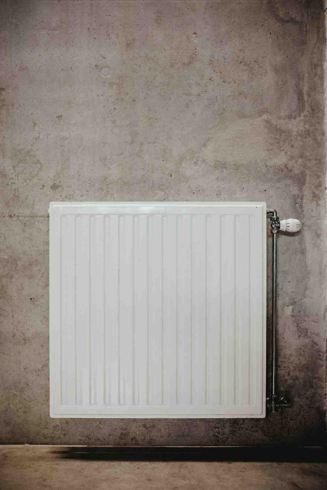 Comment enlever un radiateur électrique Tresco ?